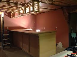 Building A Basement Bar by Restored Treasures Too Building And Adding The Soffit Above The