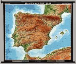 Portugal And Spain Map by Spain U0026 Portugal Physical Political David Rumsey Historical