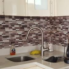 self adhesive backsplash tiles for kitchen peel n stick tile 5 8 sq ft