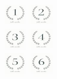 free table number templates 20 elegant wedding menu cards wedding idea