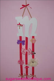bow holder handmade boutique hair bows letter hair bow holders