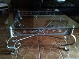 Glass Top Coffee Table With Wrought Iron Legs Cast Iron Coffee Table