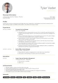 Achievements In Resume Examples by Business Management Graduate Cv Example Resume Sample Career