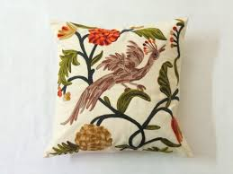 pillowcase handmade jungle 24x24 peacock birds bed sofa discovered