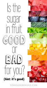 is the sugar in fruit good or bad for you