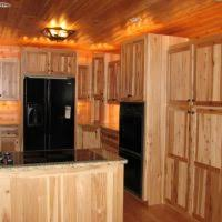 L Shape Kitchen Design And Decoration Using Rustic Cherry Kitchen - Rustic cherry kitchen cabinets