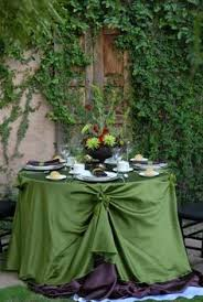 Cloth Table Skirts by Romantic Gathered Table Skirt Available In Multiple Sizes And