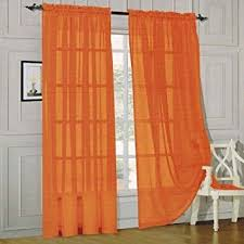 Sheer Curtains Orange Comfort 2 Sheer Panel With 2inch Rod
