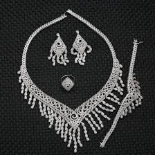diamond style necklace images China b30011 bollywood style necklace set american diamond cz jpg
