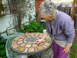 how to create a mosaic tile top for your patio table home
