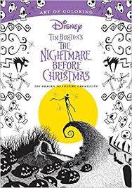 art coloring tim burton u0027s nightmare christmas 100