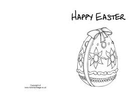 easter egg colouring card