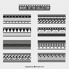 maori tribal tattoo collection vector free download