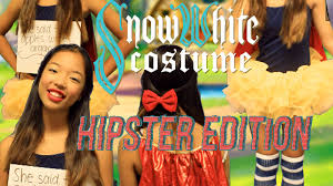 diy hipster modern day snow white halloween costume cheap and