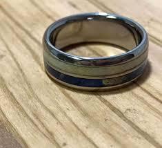 wooden rings wedding images Titanium ring deer antler ring wood ring wedding ring jpg