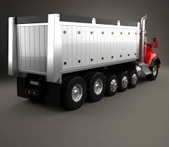 kenworth 2016 models kenworth t880 dump truck 6 axle 2013 3d model hum3d