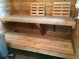 20 year old sauna benches time for a makeover saunatimes