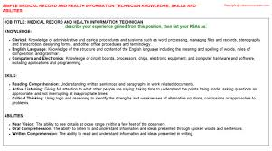 Information Technology Resume Skills Medical Secretary Federal Resume Ksa
