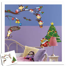 compare prices monkey wall decal online shopping buy low price christmas wall sticker cartoon animal monkey decals removable home decor for kids room china
