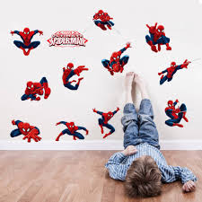 3d cartoon diy the new handsome spider man wall stickers home