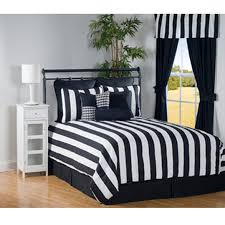 4 pc city stripe black and white stripe daybed bedding set