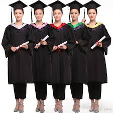 college graduation gown 2017 women master s degree gown bachelor costume and cap