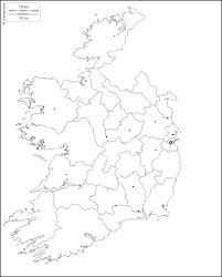 Blank County Map by Ireland Free Map Free Blank Map Free Outline Map Free Base Map