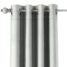 vintage canvas stripe drapery panel 3d cgtrader