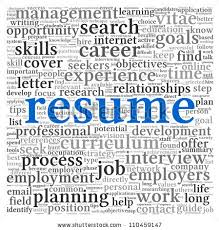 the word resume resume concept word tag cloud on stock vector 110459915