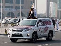 Car Bonnet Flags Qatar National Day The Qatari Celebration Sonya And Travis