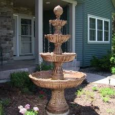 solar fountains with lights large outdoor fountains for sale best large outdoor fountains with