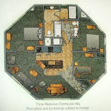 disney world floor plans official floorplan rendering for disney s treehouse villas