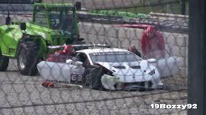 Lamborghini Huracan Lp620 2 Super Trofeo - white lamborghini huracan lp620 2 super trofeo after hitting the