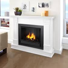 real flame silverton 48 inch gel fireplace with mantel white