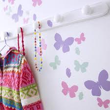 childrens butterfly flutter wall stickers set by kidscapes childrens butterfly flutter wall stickers set