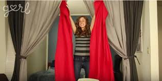 Old Curtains How To Make Cheap Diy Curtains Using A Bed Sheet Tiphero