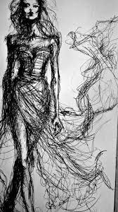 fashion sketch elegant fashion illustration of a model in a glam
