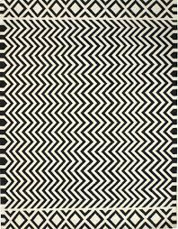zigzag black white dhurrie rug j31417