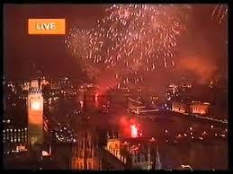 2000 new years new year 1999 2000 millennium london uk