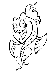 pretty cartoon fish coloring free printable coloring pages
