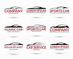 sports car logos set of modern car logo design templates vector illustration stock