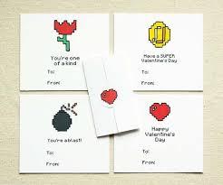 gamer valentines cards 8bit gamer cards gadgetsin