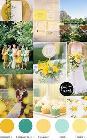 mint green wedding mint mustard color palette autumn wedding inspiration