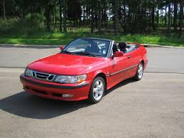 saab convertible 2001 saab 9 3 se convertible auto red 50869 miles