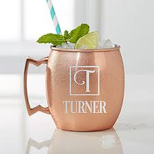 moscow mule mugs personalized copper moscow mule mug square monogram