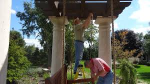 swing pergola tuscan style pergola swing for mark church in canton ohio