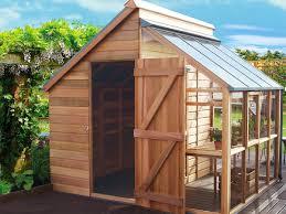 combiné serre et abris de jardin cabane jardin verriere