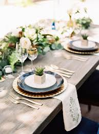 Romantic Table Settings Romantic Navy Italian Inspired Wedding Tablescapes Navy And