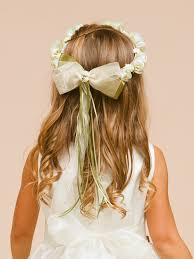 hair wreath floral wreath for flower girl organza dress with