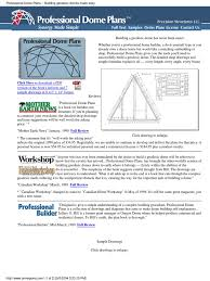 geodesic dome floor plans dome construction plans 2004 pdf
